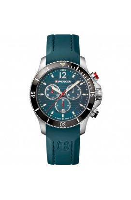 Чоловічі годинники Wenger Watch SEAFORCE Chrono W01.0643.114, Циферблат - Синій, Корпус - Сталь, Швейцарія