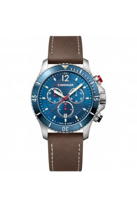 Чоловічі годинники Wenger SEAFORCE Chrono W01.0643.116, Циферблат - Синій, Корпус - Сталь, Швейцарія