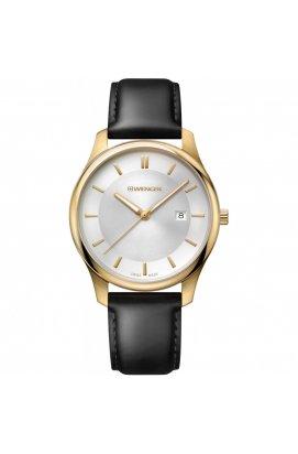 Мужские часы Wenger Watch CITY CLASSIC W01.1441.106, Циферблат - Серебристый, Корпус - Позолота, Швейцария
