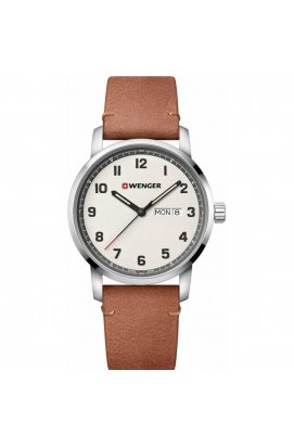 Мужские часы Wenger ATTITUDE W01.1541.117, Циферблат - Бежевый, Корпус - Сталь, Швейцария