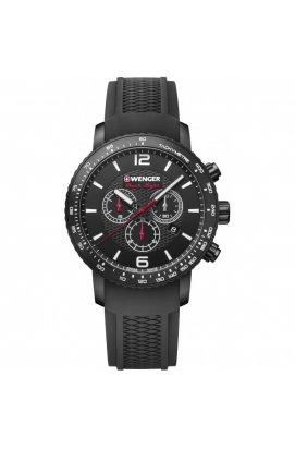 Мужские часы Wenger Watch ROADSTER Black Night Chrono W01.1843.102, Циферблат - Чёрный, Швейцария
