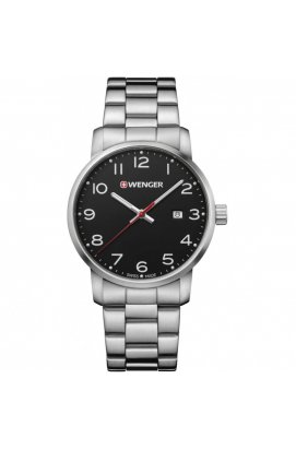 Мужские часы Wenger AVENUE W01.1641.102, Циферблат - Чёрный, Корпус - Сталь, Швейцария