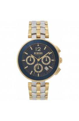 Мужские часы Versus LOGO Chrono Vsp762518, Циферблат - Синий, Корпус - Позолота, Италия