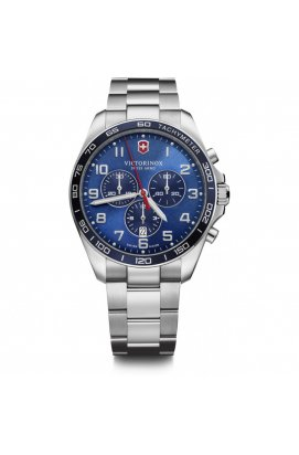 Мужские часы Victorinox Swiss Army FIELDFORCE Classic Chrono V241901, Циферблат - Синий, Корпус - Сталь, Швейцария