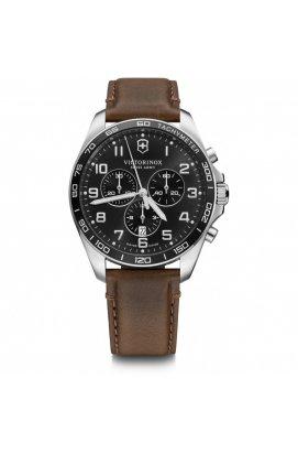 Мужские наручные часы Victorinox Swiss Army FIELDFORCE Classic Chrono V241928, Циферблат - Чёрный, Корпус - Сталь, Швейцария