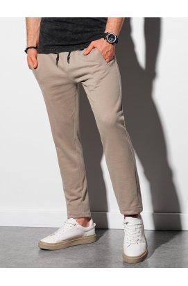 Чоловічі спортивні штани P946 - бежевий - Ombre