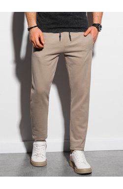 Мужские спортивные штаны P946 - бежевый - Ombre