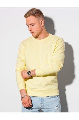 Чоловіча толстовка без капюшона B1146 - жовтий - Ombre