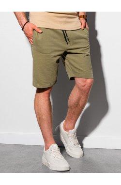 Мужские шорты короткие спортивные W291 - хаки - Ombre