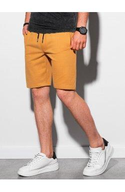 Мужские шорты короткие спортивные W291 - жёлтый - Ombre