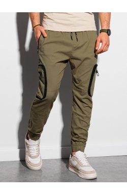 Мужские штаны-йоггеры P960 - оливковый - Ombre