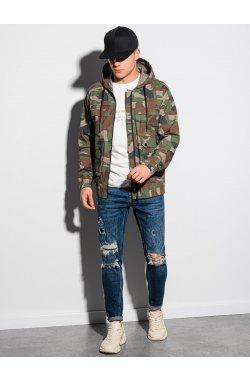Мужская повседневная куртка C483 - камуфляжный - Ombre