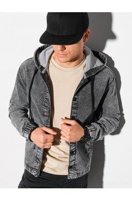 Мужская джинсовая куртка C477 - серый - Ombre