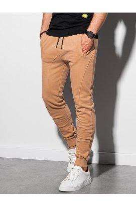 Чоловічі спортивні штани P948 - світло-коричневий - Ombre