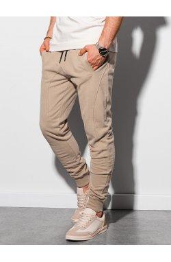 Мужские спортивные штаны P948 - бежевый - Ombre