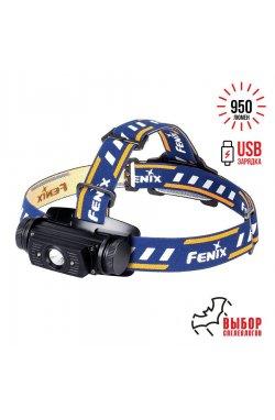 Налобный фонарь Fenix HL60R DY Cree XM-L2 U2 Neutral White LED, 950 люмен, Black (FNX HL60RU2)