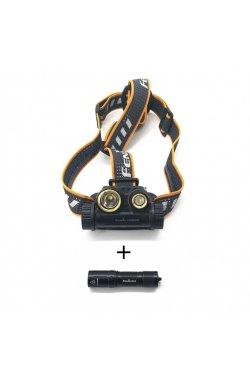 Налобный фонарь Fenix HM65R + в подарок ручной E01 V2.0, Black (FNX HM65RE01V20)