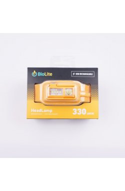 Налобный фонарь BioLite Headlamp 330 люмен, Sunrise Yellow (BLT HPA0201)