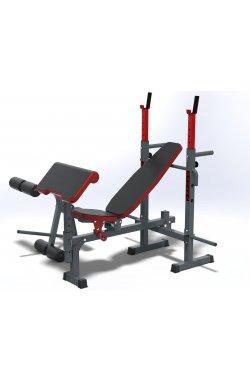 Набор NS513 GREY универсальная скамья  и приставные тренажеры скотта и для ног Haukka