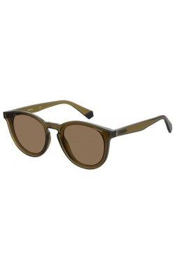 Солнцезащитные очки Polaroid PLD6143/S-09Q-SP - круглые;овальные, Цвет линз - коричневый