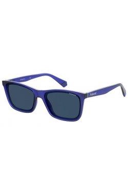 Солнцезащитные очки Polaroid PLD6144/S-PJP-C3 - квадратные;прямоугольные, Цвет линз - синий;серый