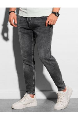 Мужские брюки джоггеры P1057 - графитный - Ombre