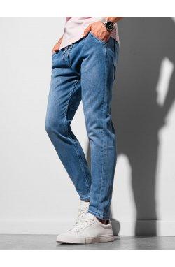 Мужские брюки джоггеры P1057 - светло-синий - Ombre