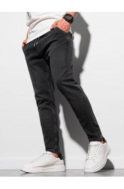 Мужские брюки джоггеры P1057 - чёрный - Ombre