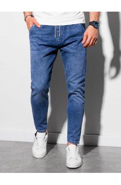 Мужские брюки джоггеры P1057 - темно-синий - Ombre