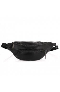 Поясная сумка из натуральной кожи с карманом GA-30351-3md бренд TARWA Черный
