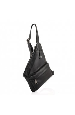 Кожаная сумка через плечо, рюкзак моношлейка GA-6501-4lx бренд TARWA Черный