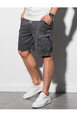 Мужские шорты короткие спортивные W292 - графитный - Ombre