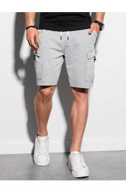 Мужские шорты короткие спортивные W292 - светло-серый - Ombre