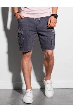 Мужские шорты короткие спортивные W292 - чёрный - Ombre