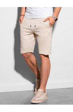 Мужские шорты короткие спортивные W299 - белый - Ombre