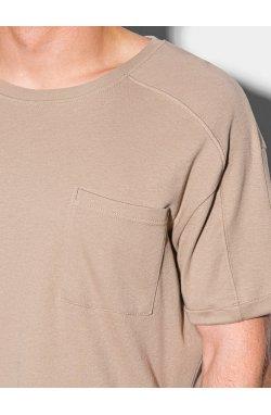 Мужская футболка без принта S1386 - ash - Ombre