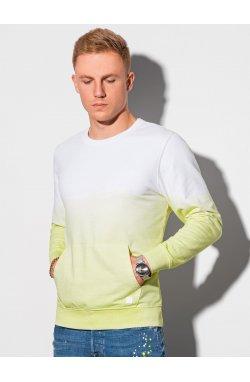 Мужская толстовка без капюшона B1150 – lime - Ombre