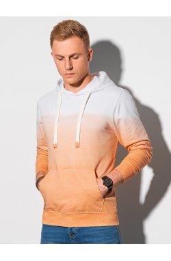 Толстовка мужская с капюшоном B1174 – оранжевый - Ombre