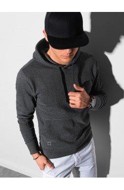 Толстовка мужская с капюшоном B1154 – графитный меланж - Ombre