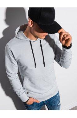 Толстовка мужская с капюшоном B1154 – светло-серый - Ombre