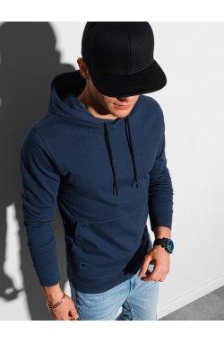 Толстовка мужская с капюшоном B1154 – темно-синий - Ombre