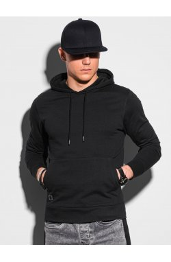 Толстовка мужская с капюшоном B1154 – чёрный - Ombre