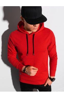 Толстовка мужская с капюшоном B1154 – красная - Ombre