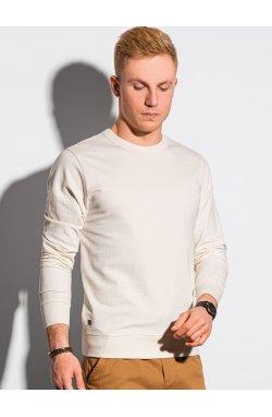 Мужская толстовка без капюшона B1153 - cream - Ombre