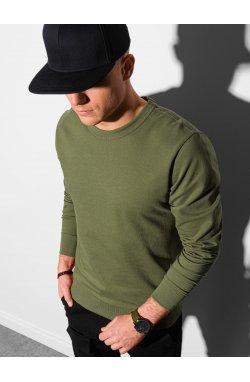 Мужская толстовка без капюшона B1153 - хаки - Ombre