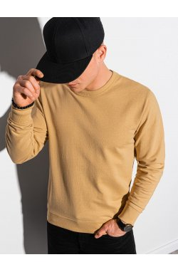 Мужская толстовка без капюшона B1153 - жёлтый - Ombre