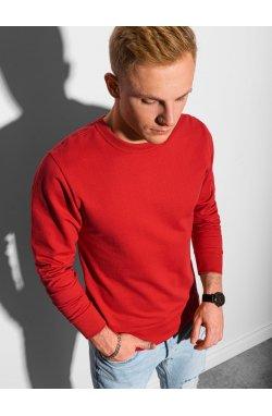 Мужская толстовка без капюшона B1153 - красный - Ombre