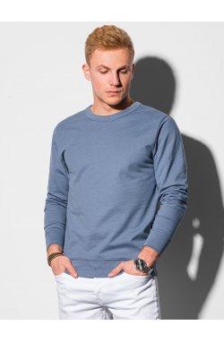 Мужская толстовка без капюшона B1153 - синий - Ombre