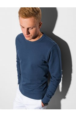 Мужская толстовка без капюшона B1153 - темно-синий - Ombre