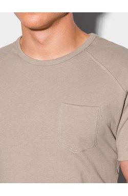 Мужская футболка без принта S1384 - ash - Ombre
